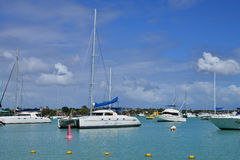 Ciudad pintoresca de la bahía magnífica en Mauritius Republic Fotografía de archivo