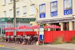 Ciudad pintoresca de Stella Plage en el Pas de Calais de Nord Imagen de archivo libre de regalías