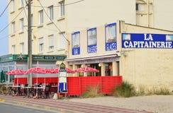 Ciudad pintoresca de Stella Plage en el Pas de Calais de Nord Foto de archivo libre de regalías