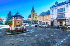 Ciudad pintoresca Samobor en Croacia, Europa imagen de archivo libre de regalías