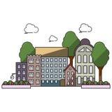 Ciudad plana Imagen de archivo