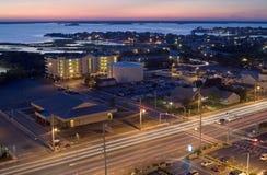 Ciudad por la bahía Fotos de archivo