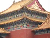 Ciudad prohibida detalle Pekín Foto de archivo
