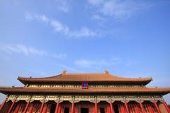 Ciudad prohibida, el palacio imperial en Pekín imagenes de archivo