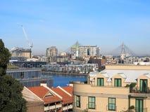 Ciudad a Pyrmont, puente de Sydney de Anzac Foto de archivo libre de regalías