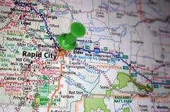 Ciudad rápida, Dakota del Sur imagenes de archivo