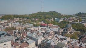 Ciudad a?rea Lviv, Ucrania Ciudad europea ?reas populares de la ciudad dominicano metrajes