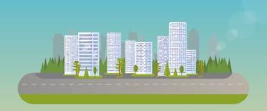 Ciudad Real Estate ilustración del vector
