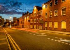 Ciudad Reino Unido de Birmingham en la oscuridad Fotografía de archivo libre de regalías