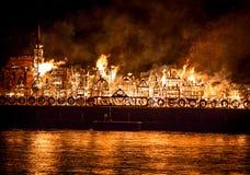 Ciudad Reino Unido de Londres del fuego Imagen de archivo libre de regalías