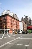 Ciudad residencial en Manhattan Imagen de archivo libre de regalías
