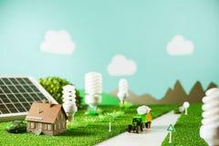 Ciudad respetuosa del medio ambiente del juguete Imagen de archivo libre de regalías