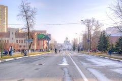 Ciudad Reutov cityscapes imagen de archivo libre de regalías