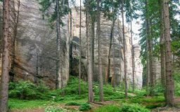 Ciudad rocosa en Adrspach Fotos de archivo libres de regalías