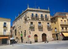 Ciudad Rodrigo - Casa del Abc-bok Marques de Cerralbo Royaltyfria Bilder