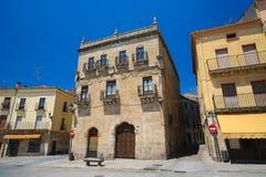 Ciudad Rodrigo - Casa del Abc-bok Marques de Cerralbo Royaltyfri Fotografi