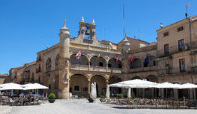 Ciudad Rodrigo. SPAIN - JUNE 1, 2014: Ayuntamiento or old Town Hall (16th Century) in , a small cathedral city in the province of Salamanca, Spain Royalty Free Stock Photography