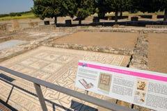 Ciudad romana de Italica, la casa del planetario, Andalucía, España Fotos de archivo