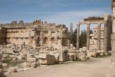 Ciudad romana vieja, Baalbek, Líbano Imagenes de archivo