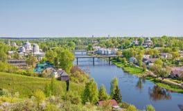 Ciudad rusa de Torzhok fotografía de archivo libre de regalías