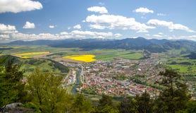 Ciudad Ruzomberok, Eslovaquia Foto de archivo libre de regalías