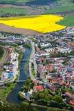Ciudad Ruzomberok, Eslovaquia Imagen de archivo libre de regalías