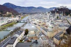Ciudad Salzburg fotos de archivo