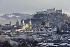 Ciudad Salzburg en Austria imagen de archivo