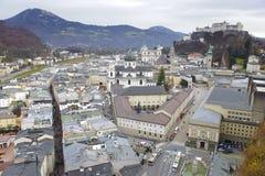 Ciudad Salzburg en Austria imagen de archivo libre de regalías