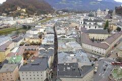 Ciudad Salzburg en Austria foto de archivo libre de regalías