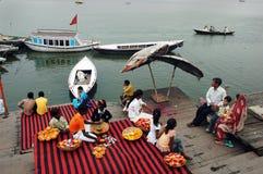 Ciudad santa Benaras en la India Fotografía de archivo