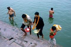 Ciudad santa Benaras en la India Foto de archivo