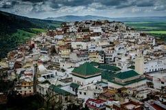 Ciudad santa de Moulay Idriss, Marruecos Fotos de archivo libres de regalías