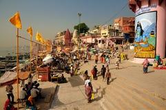 Ciudad santa de Varanasi, la India Fotos de archivo libres de regalías
