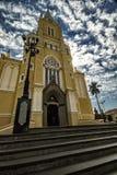 Ciudad Santa Rita Do Passa Quatro, São Pablo, el Brasil - ciudad Santa Rita Do Passa Quatro, São Pablo, el Brasil de la catedra foto de archivo libre de regalías