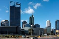 Ciudad Scape de Perth Foto de archivo libre de regalías