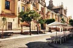 Ciudad Sevilla, catedral Foto de archivo