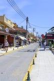 Ciudad Sidari de la playa Imagenes de archivo