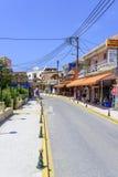 Ciudad Sidari de la playa Fotos de archivo