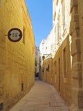 Ciudad silenciosa Mdina en la isla de Malta imagen de archivo libre de regalías