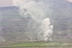 Ciudad siria de Kuneitra Fotos de archivo libres de regalías