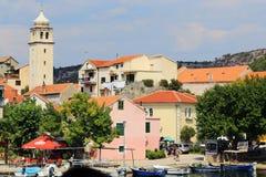 Ciudad Skradin, Croacia fotos de archivo