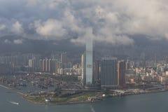 Ciudad skyline.ICC de Hong Kong Imagen de archivo libre de regalías