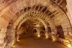 Ciudad subterráneo en Uchisar Imagen de archivo libre de regalías