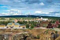 Ciudad sueca Falun de la explotación minera Foto de archivo libre de regalías