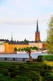 Ciudad Suecia de Estocolmo de la ciudad de Gamla Stan Old Fotos de archivo libres de regalías