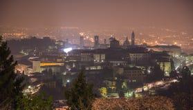Ciudad superior Bérgamo Foto de archivo libre de regalías