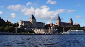 Ciudad Szczecin de la playa Fotografía de archivo