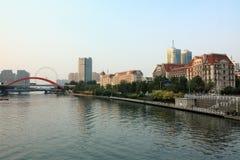 Ciudad Tianjin de la costa foto de archivo libre de regalías