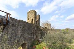 Ciudad Toscana Italia de Monteriggioni Imágenes de archivo libres de regalías